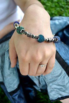 Memorial Bead Bracelet, Nancy Style, Sterling Silver