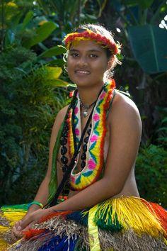 Pohnpeian girl. (Federal States of Micronesia, Micronesia, Oceania)