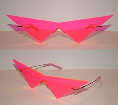 for the PARTY: neon pink cosplay glasses from Akunjin Corps $25