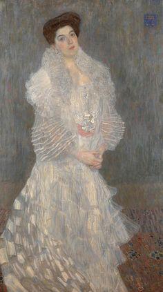 Gustav Klimt - Portrait of Hermine Gallia [1904]