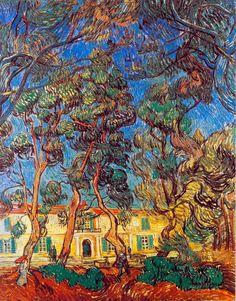 vangogh, vans, tree, garden art, landscape paintings, museum, vincent van gogh, canvases, provence france