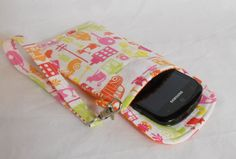 iPhone Wristlet Bag Smart Phone Case Fabric by LakesideQuiltsMaine, $17.50