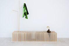 coat hook, wooden benches, product design, umbrella, meadow, trees, coat racks, furnitur, coats
