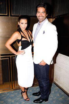 Brian Atwood NYC Flagship Celebration - Kim Kardashian and Brian Atwood #nyfw