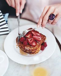 Peanut Butter Crunch French Toast Recipe from Food & Wine