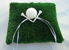 Golf Theme Ring Bearer Pillow @USHoleInOne