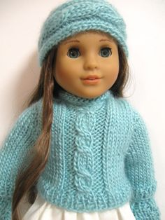 American girl doll clothes   Handknit Set by 123MULBERRYSTREET