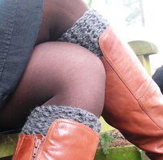 Chunky Knee-High Boot Socks: free pattern