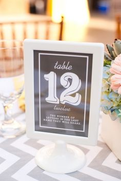 fun facts about the couple relating to each table number // photo by CandiceBenjamin.com