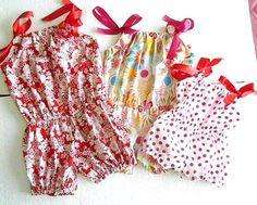 Romper Sewing Pattern, Pillowcase Bubble Romper, Baby, Infant, Toddler Pattern, PDF Pattern $6.99