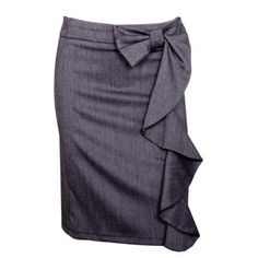 Bow skirt with ruffles...Perfect for spicing up boring work attire