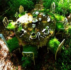 tea time plantings - how fun and whimsical this would be in the back yard?...need to start hitting thrift stores..this is just too fun not to do it!