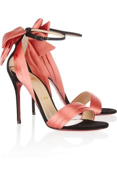 christians, coral, 100 sued, christian louboutin shoes, ribbon, heel, sandals, bow, fashion designers