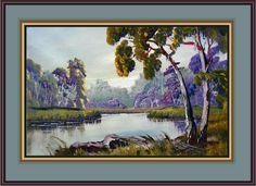 Paint Gums and River Tutorial Oil or Acrylic gum tree, acryl paint, art idea, art lessonsacryl, paints, paint tutori, art instruct, oil paint, river