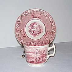 Royal Staffordshire Jenny Lind Demi Tea Cup and Saucer. Click on the image for more information.