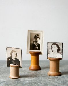 This is a cool idea for old family photos... or even photos/post cards you find in antique stores.