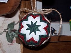 "Inspiring Creativeness: ""Quilted"" Star Ornaments"