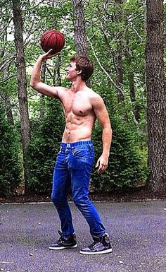 Ansel Elgort. Playing Basketball. I have to pin this before I faint! lol