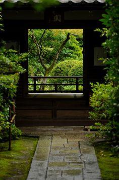 Japanese Zen garden Daitoku-ji Complex, Kyoto, Japan