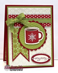 Stampin' Anne christma card, christmas cards, stamp, season, christma coffe, coffee cups, ann, christmas paper, xmas cards