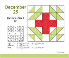 Christmas+quilt+blocks   quilting friend by making four of these 10″ blocks. Set the blocks ...