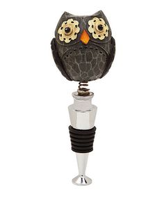Take a look at this Hoot Owl Wine Bottle Stopper by Cypress Home on #zulily today!