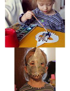 paper plate shark mask activity