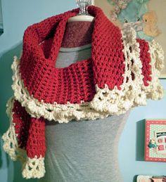 Pretty crocheted scarf
