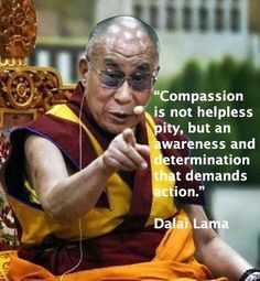 """""""Compassion is not helpless pity, but an awareness and determination that demands action."""""""