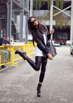 sequin leggings and booties