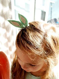 DIY - Easter Bunny Ear Hair Clips