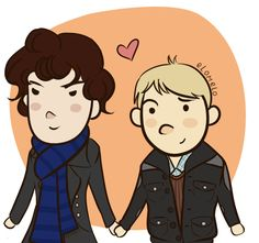 Sherlock and Watson. Ha! YOu know everyone's thinking it...