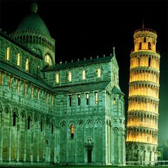 Church Bell Tower of Pisa, Italy.