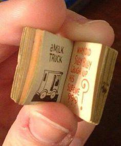 Tiny joke book- it was a Cracker Jacks prize