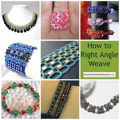 How to Right Angle Weave: 18 Right Angle Weave Beading Patterns   AllFreeJewelryMaking.com Bead Necklac, Beading Patterns, Weav Bead, Angl Weav, Bead Weaving, Beading Projects