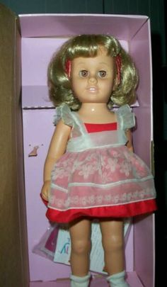 Chatty Cathy is a doll manufactured by the Mattel toy company from 1959 to 1965. The doll was first released in stores and appeared in television commercials beginning in 1960. Chatty Cathy celebrated her 50th birthday in 2010. I wanted one so bad.