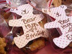 Bear Hugs Valentines Teddy Grahams  Super Easy and Cheap. I Like the Teddy Bear shaped tags:)