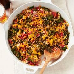 Smoked Turkey, Kale & Rice Bake #bestdietrecipes