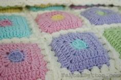 ::Puffy Patch Blanket Crochet Pattern::