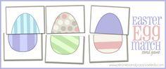 Easter Egg Match printable card game