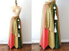 vertical patchwork skirt