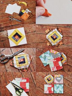 Quilted greeting cards