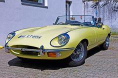 Yellow Jaguar E-Type