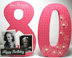 Wooden numbers 80th birthday decorations