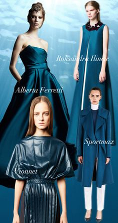 Ocean Blue Pre-Fall 2014 Trend Council #DORLYDESIGNS: Pre-Fall 2014: Runway Designer Fashion Colour Trends Report