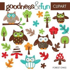 Buy 2 Sets Get 2 Sets FREE  Digital Clipart  by goodnessandfun, $5.00 babi anim, owl art, clip art, cooki, baby animals, animal babies, art pictures, owls, owl clipart free