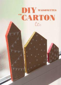 craft idea: cardboard houses
