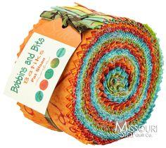 Bobbins and Bits Batiks Jelly Roll - Pat Sloan - Moda Fabrics