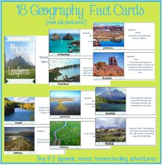 free printable geography fact cards