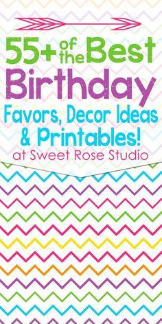 birthday parties, decor round, idea collect, party printables, favor, parti printabl, parti idea, birthday decor, decor idea